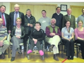 Present at the County Cavan Access Assocation AGM were: standing (from left) Winston Bennett, Paddy O'Reilly, Paddy Conaty, Kevin Bravender, (secretary), Bobby Jordan, Peter Garry, (treasurer) Jonathan Binchy (chairman and PRO); seated Billy Bravender, Mary Ruddy, Jacinta Fox, David Mulligan, Emma Breiden (access officer Cavan County Council) and Jennifer Hill, (sports inclusion development officer for Cavan and Monaghan).